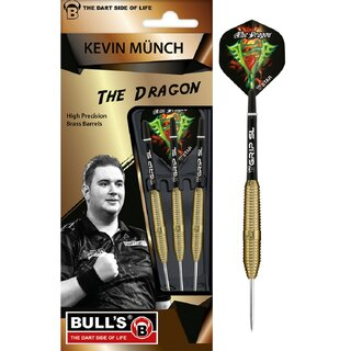 BULLS Kevin Münch Team Player Brass Steel Dart 21 Gr.